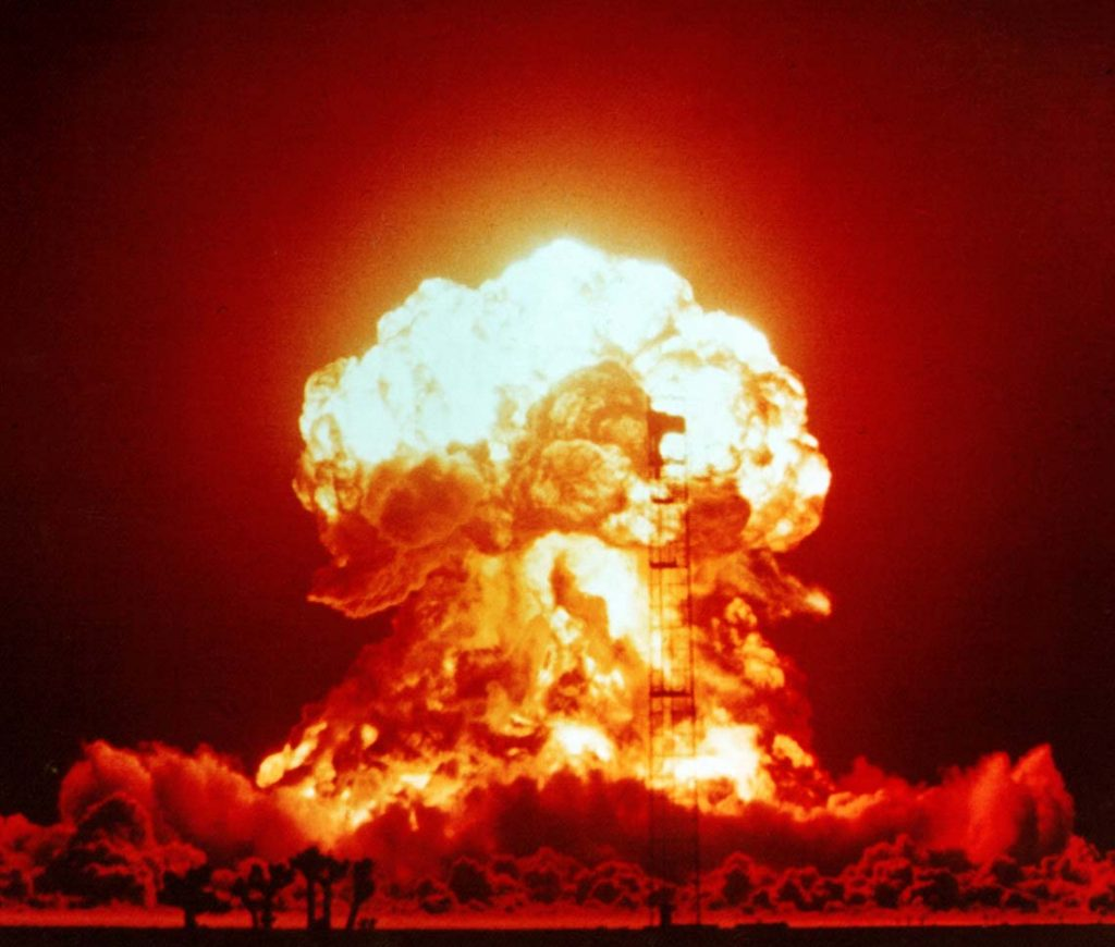 Image of explosion represents things going wrong on a project.